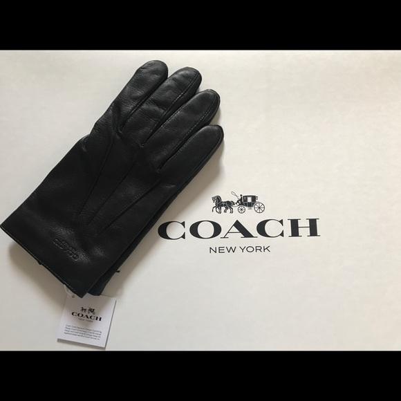 08072cd948a17 Coach Accessories   Nwt Mens Basic Leather Glovef54182 Black   Poshmark